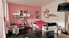 Pink Teen Room Design with Furniture for Girls - Hulsta Teen Room Design