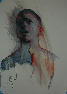 one of these mornings no.1 | Flickr - Photo Sharing! Ink, gouache, pastel, by Mark Horst