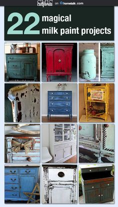 Milk paint is the hottest trend right now, and I am loving these awesome (and easy) projects!