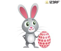 Download this easter bunny for FREE. Share the blessings with your family and your loved ones! #123rf #easter #bunny #egg