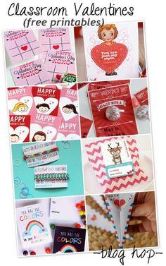 Adorable Free Printables Classroom Valentines Blog Hop! #valentine