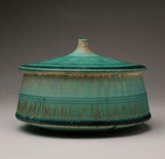 ceramic pottery, ceram potteri, ernest miller, lid vessel