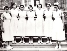 Graduating class Mercy Douglass Class of 1960. Image courtesy of the Barbara Bates Center for the Study of the History of Nursing.