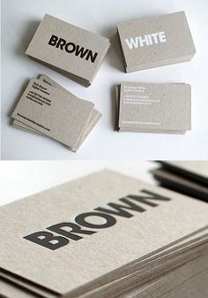 Some of the best foil blocked business cards from The Ground