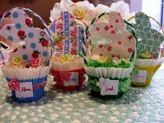 Many fun ideas for homemade Easter Baskets on this site - enjoy!