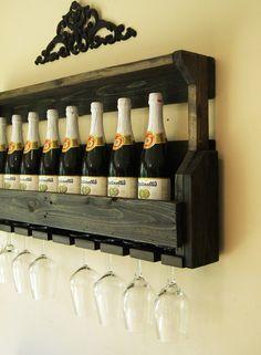 Black Wine Rack by JNMRusticDesigns on Etsy, $105.00