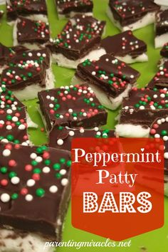 Peppermint patty bars. They are crazy easy! peppermint patti