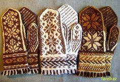 stranded knitting mittens