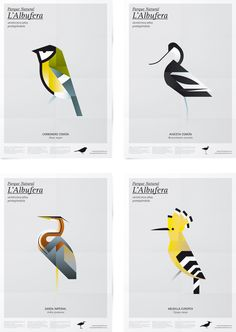 Birds of the Albufera posters by Manuel Martín of Mutdesign.