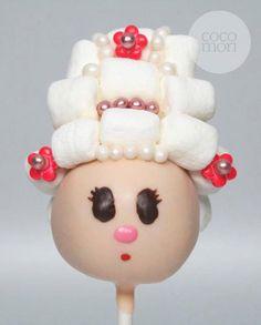 Marie Antoinette cake pop!