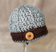 Crochet Baby Hat Textured Beanie by TheBabyCrow