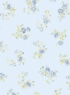 Shabby Chic Blue Rose Floral