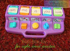 Still Playing School: Sight Word Busy Box - Fine Motor Fridays