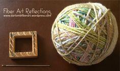 Fiber Art Reflections: 2 inch square pin loom meets handspun yarn