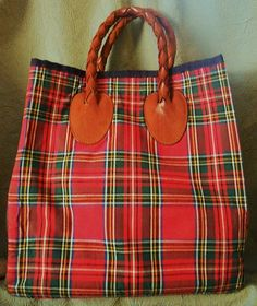 Vintage Wonderful Large Plaid and Leather by harmonycollectibles, $50.00