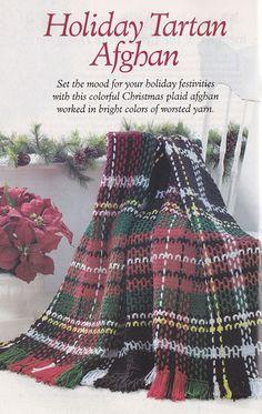Christmas Tartan Afghan Crochet Pattern - Annie's Favorite Crochet Christmas Crochet Patterns - Stocking, Doily from etsy.com