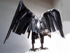 Raptors, Garden Art, Wildlife Sculpture, Metal Sculpture, Architectural Art, Birds, Animals, Nature