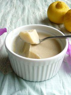 Sugar-Free Lemon Custard (Gluten-Free, Vegan)  @dailydietribe