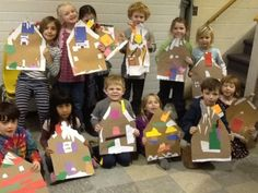Kindergarten Gingerbread Houses (collage)
