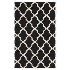 black and ivory rug mekn rug, wool rugs