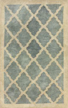 Aisha 100% Wool Area Rug in Slate design by NuLoom
