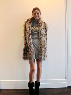 oli boho chic, fashion, ankle boots, ankl boot, dress, palermo style, fur, olivia palermo, black