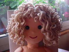 bambolando, hair tutorials, craft, amigurumi hair tutorial, doll making tutorials, doll hair for amigurumi, boneca, curly hair, cur hair