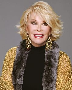 "Joan Rivers -- (6/8/1933-9/4/2014). Television Personality, Comedian, Writer, Film Director and Actress. She portrayed Anka in ""Hot in Cleveland"". Movies -- ""The Swimmer"" as Joan and ""Spaceballs"" as Dot Matrix (Voice). He was panelist in ""Hollywood Squares"" & ""Match Game"". She died of Complications of Surgery, age 81."