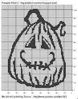 Free Filet Crochet Charts and Patterns: Filet Crochet Pumpkin - Chart 2