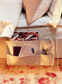 Bedside caddy- dorm room (because there is usually no room for an end table)