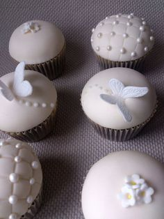Christening cupcakes  Cake by dollybird