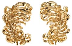 Tickle Me Feather Earrings by JAR Paris in 18k gold over aluminum
