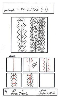 bordure Snowzags zentangle patterns