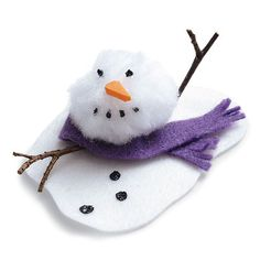 Toddler Craft -  Melting snowman