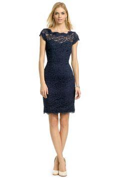 ML Monique Lhuillier Your Moment Sheath, navy blue dress
