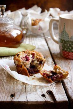 Honey Oat Banana Berry Muffins - Kitchen Simplicity