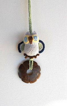 Crochet Owl  Pendant Nursing Necklace by sweetshtuchky on Etsy, $17.50
