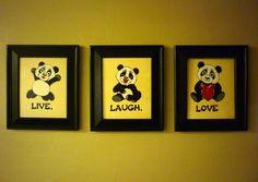 Panda Bear LIVE LAUGH LOVE