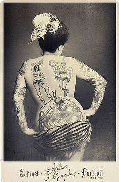 cabinet photo, cabinet card, tattoo ladi, vintage tattoos, vintag tattoo, vintage photos tattoos, vintage circus photography, ladi cabinet, ink