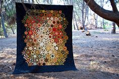 Beautiful One Block Wonder queen quilt made with by RedPoppyBlue, $1500.00