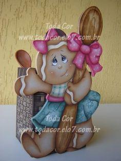 Gingerzinha Porta Colher de Pau