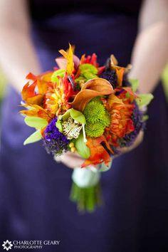 ideas for orange and purple wedding