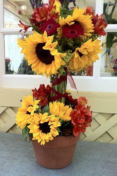 sunflower topiary sunflow topiari, diy topiari