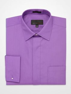 Pop color dress shirts on pinterest men 39 s dress shirts for Purple french cuff dress shirt