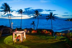 This is the right way to do small and intimate on the Oceanfront Lawn! @Four Seasons Bridal Photo by @ScottDrexlerPhoto
