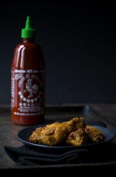 Garlic Sriracha Chicken Wings