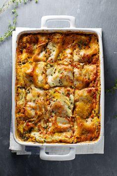 Skinny Spinach Lasagna / #vegetarian #lasagne #recipe