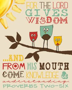 INSTANT Download, Proverbs 2:6 Scripture Printable, Digital File, No. 117 via Etsy