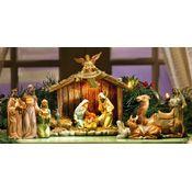 Lighted Christmas Nativity Figurines Set