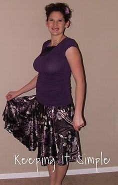 Keeping it Simple: Super Easy #Skirts #circle